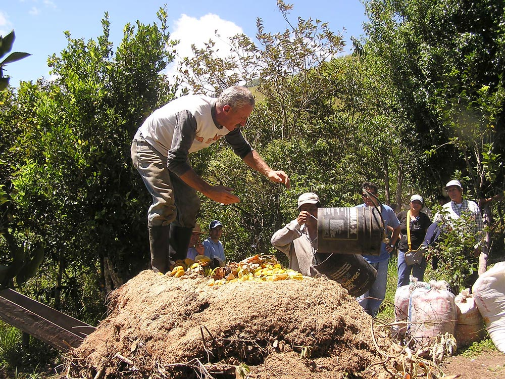 En Parque Bambú, making compost is a permanent activity